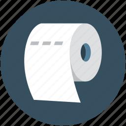 bath, bathroom, hygienic, paper roll, toilet paper icon