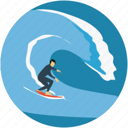 surf boarding, surfer, surfing, water sports, waving icon