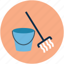 broom, clean, cleaning, janitor, mop icon