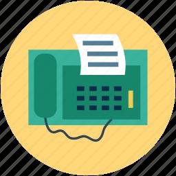 fax, faxing, machine, print, printer, telegram icon