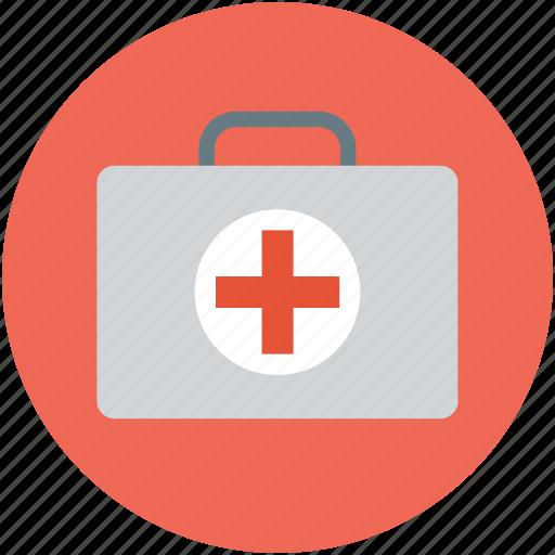 first aid, first aid bag, first aid box, first aid kit, health care icon