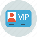 access, pass, privileges, vip card, vip service icon