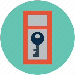 door key, key, passkey, safe, secure icon