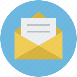 email, email message, letter, mail, post, postal mail icon