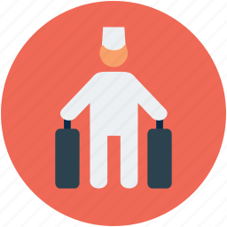 luggage, passenger, tourism, tourist, traveler, tripper icon