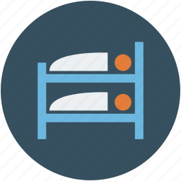 bunk bed, furniture, hotel, sleep, sleeping icon