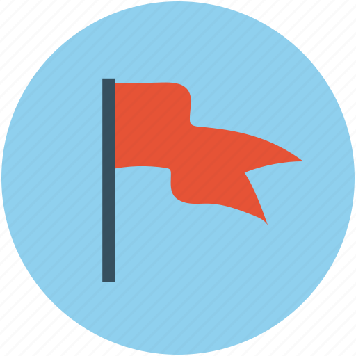 flag, fluttering flag, location flag, plain flag icon