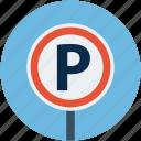 car, car parking, parking, parking sign, transport