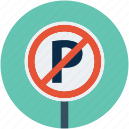 no park, no park sign, no parking, no parking sign icon
