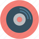 audio, audio record, music, record, retro, video, vintage icon