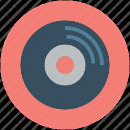 audio, audio record, music, record, retro, video, vintage icon