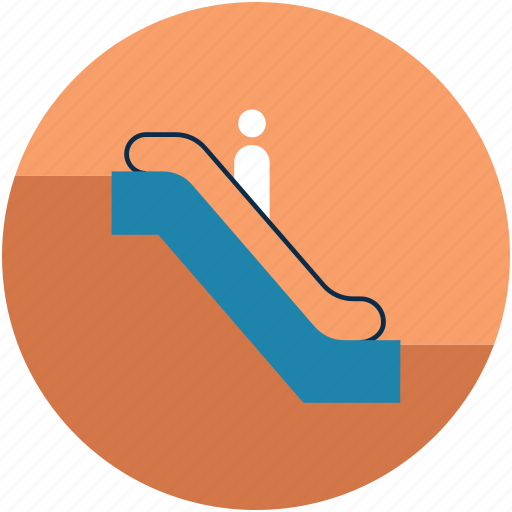 electric staircase, escalator, staircase, stairs, up sign icon