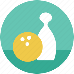 bowling, bowling ball, bowling pin, game, skittles, sport icon