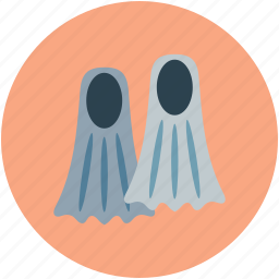 diving equipment, diving fins, fins, snorkeling icon