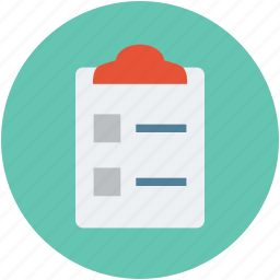 clipboard, document, file, list, sheet icon