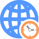 clock, global, globe, hour, time, timer, world icon