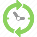 arrows, clock, hour, refresh, time, timer, watch icon