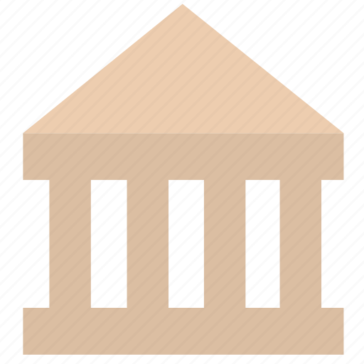 bank, building, construction, house icon