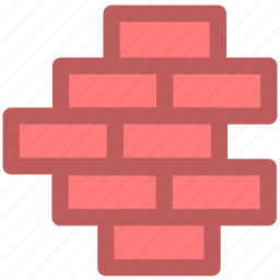 firewall, privacy, protection, safety, secure, security, wall icon