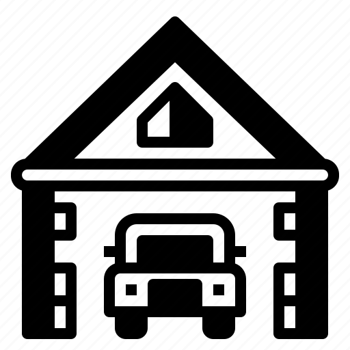 car, garage, home, house icon