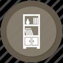 book, decoration, furniture, shelf icon