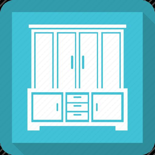 cabinet, cupboard, furniture, wardrobe, wardrobe cabinet icon