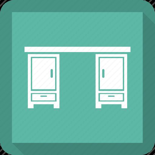 books, bookshelves, furniture, library furniture icon