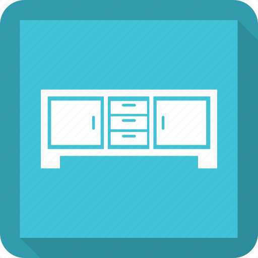 Cabinet, double drawer, drawer, drawers icon - Download on Iconfinder