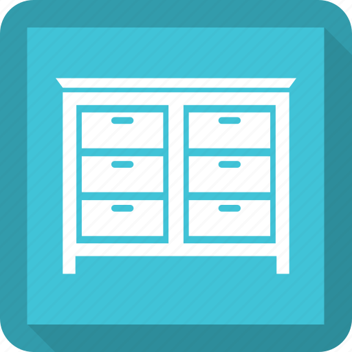 cabinet, double drawer, drawer, drawers icon