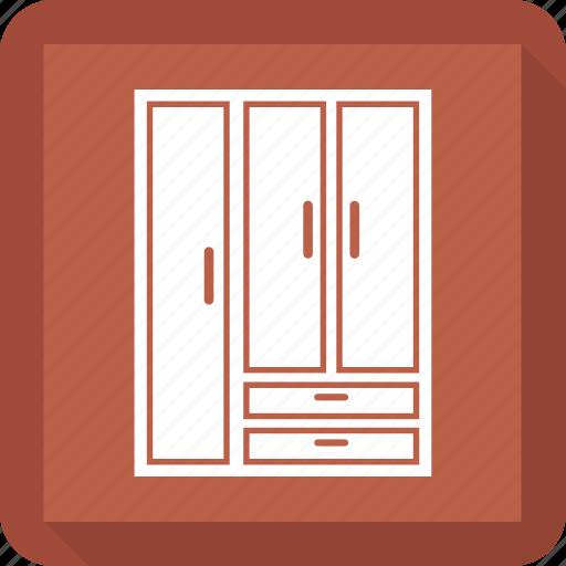 fittings, furniture, house, wardrobe icon