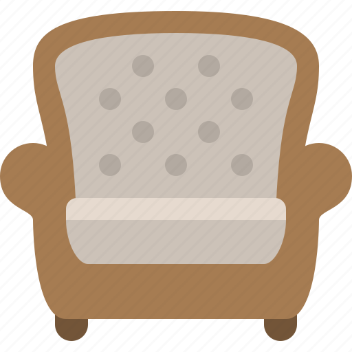 armchair, chair, household, interior, room, seat, sofa icon