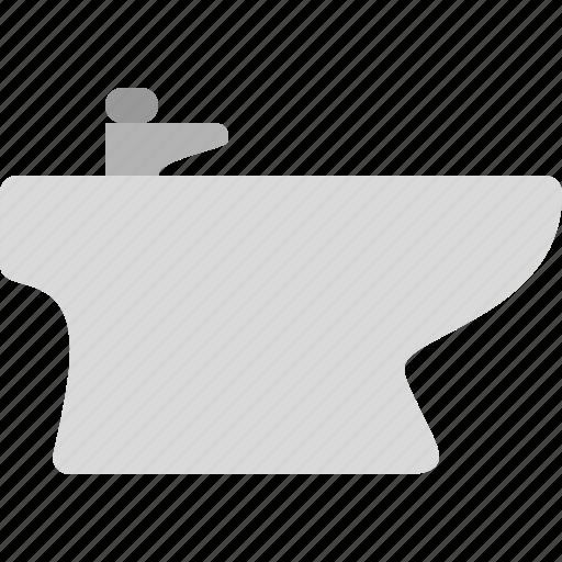 bidet, pipe, sink, water icon