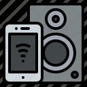 appliance, household, speakers, wireless icon