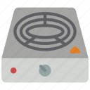 appliance, home, hot, household, plate icon