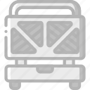 appliance, home, house, household, machine, toastie icon