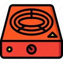 appliance, home, hot, house, household, plate icon