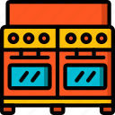 appliance, double, home, house, household, oven icon
