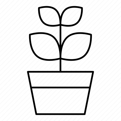 flower, flower pot, household, leaves, petals, plant icon