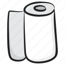 bathroom paper, bathroom tissue, cleaning paper, tissue roll, toilet paper icon