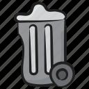 clean trash bin, dustbin, garbage can, recycle bin, rubbish bin