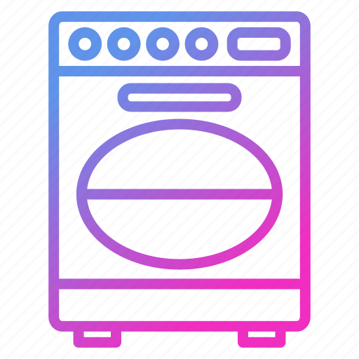 appliance, device, dishwasher, household icon