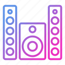 appliance, device, household, speaker icon