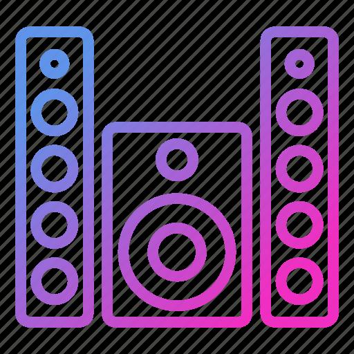 appliance, device, household, speaker icon