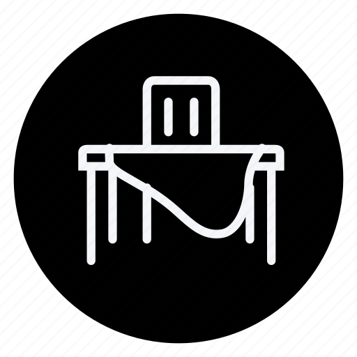 appliances, chair, furniture, house, household, room, table icon
