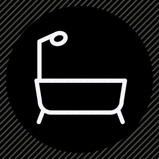 appliances, bathtub, furniture, house, household, interior, room icon
