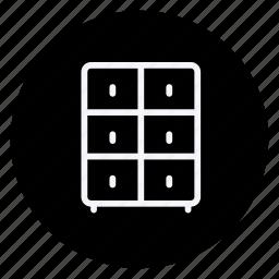 appliances, drawer, furniture, house, interior, room, weardrobe icon