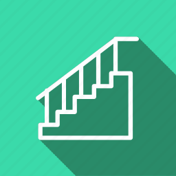 appliances, electronic, furniture, home, household, interior, staircase icon