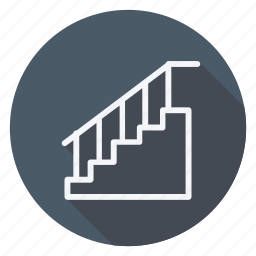 appliances, furniture, house, household, interior, room, staircase icon