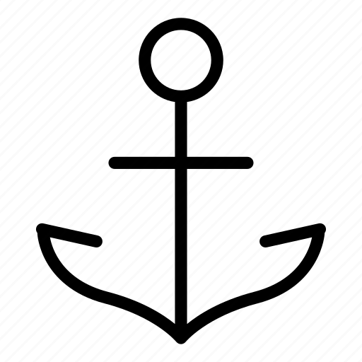 aim, anchor, boat, cruise, ship, strong, target icon