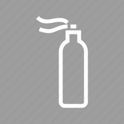 bottle, hairspray, mist, paint, plastic, spray, water icon